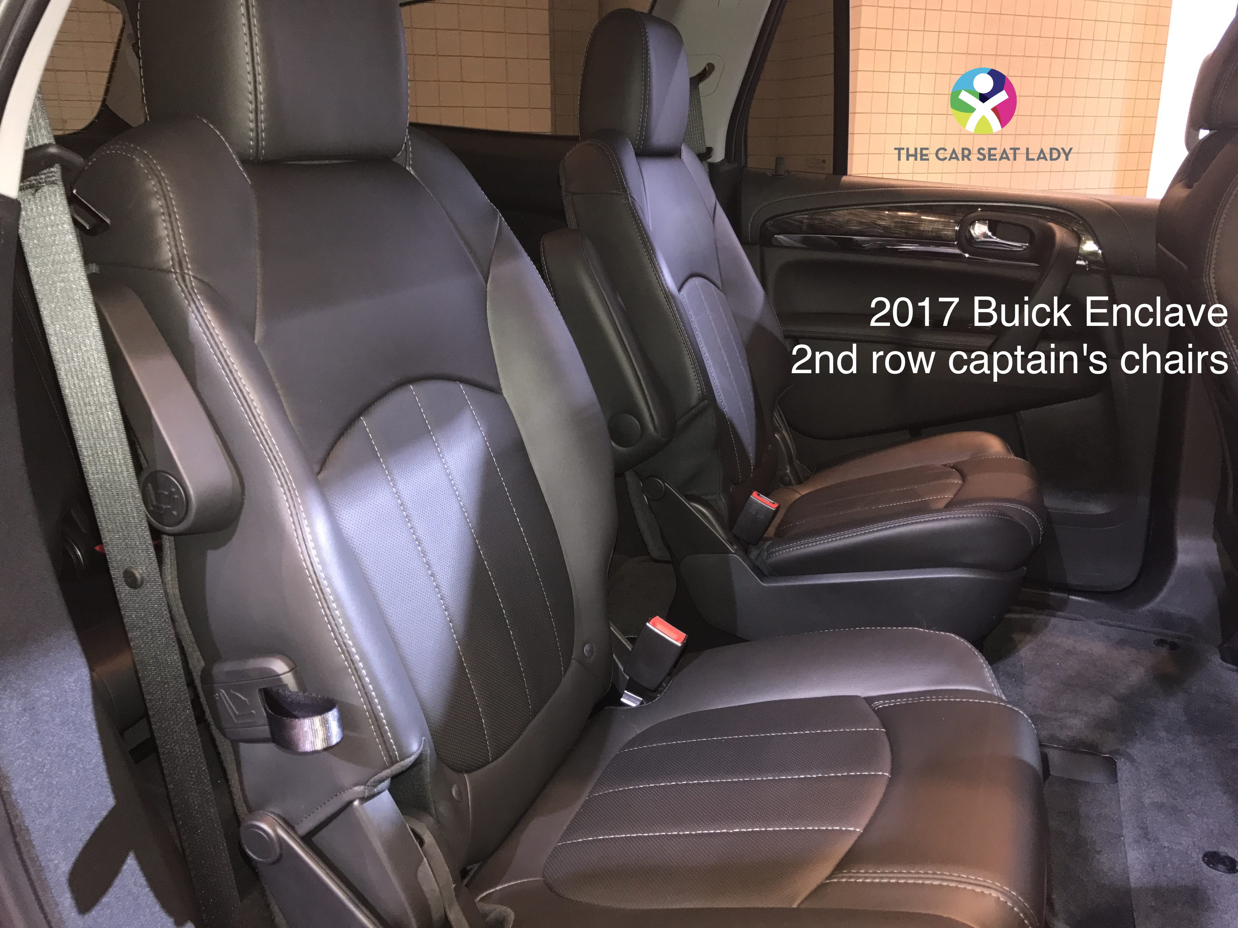 2017 gmc acadia with captains chairs graco high chair seat cover replacement the car lady
