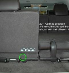 2011 cadillac escalade chevrolet suburban gmc yukon showing only 1 tether anchor for 3rd row [ 3008 x 2000 Pixel ]