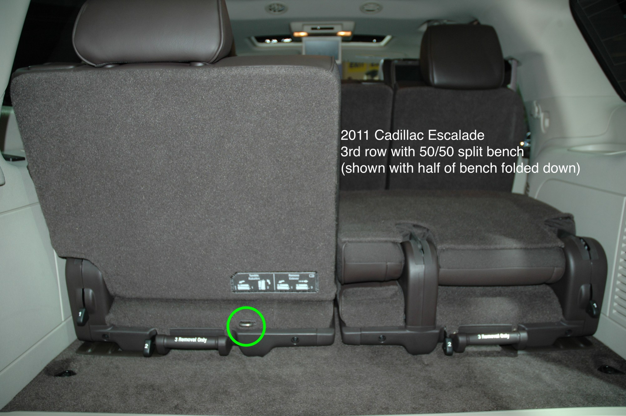 hight resolution of 2011 cadillac escalade chevrolet suburban gmc yukon showing only 1 tether anchor for 3rd row