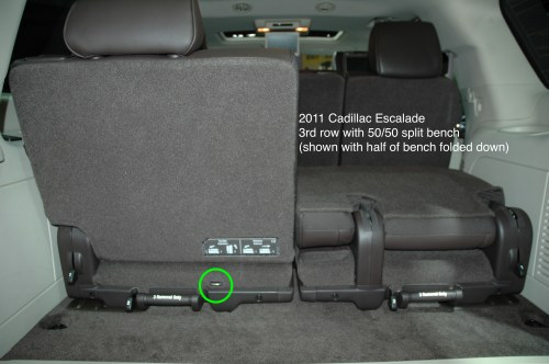 small resolution of 2011 cadillac escalade chevrolet suburban gmc yukon showing only 1 tether anchor for 3rd row
