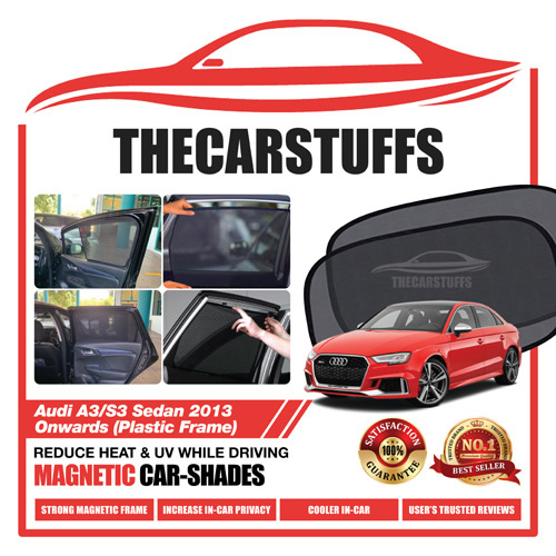 Audi Car Sunshade for A3/S3 Sedan 2013 Onwards (Plastic Frame)