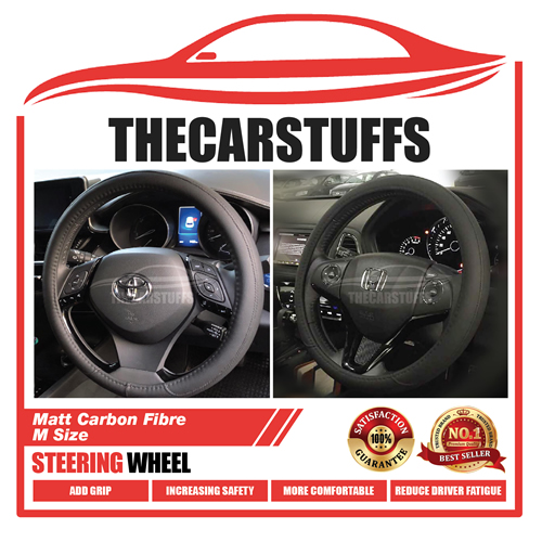 Soft Leather Finishing Classic Black Steering Wheel Cover