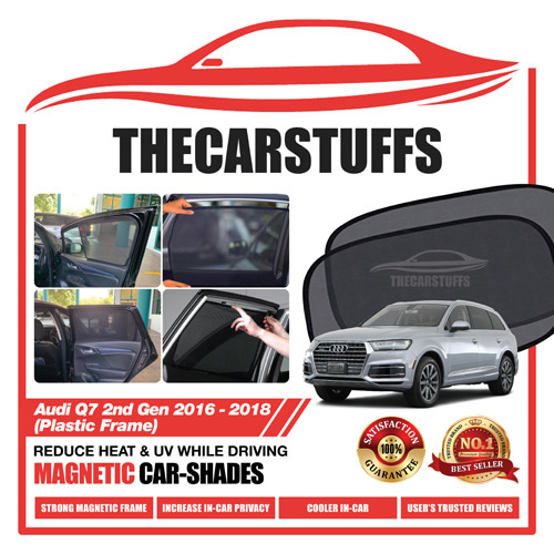 Audi Car Sunshade for Q7 2nd Gen 2016 - 2018 (Plastic Frame)