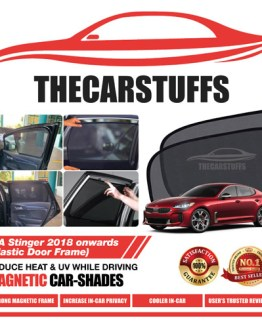 Kia Car Sunshade for Stinger 2018 Onwards (Plastic Door Frame)
