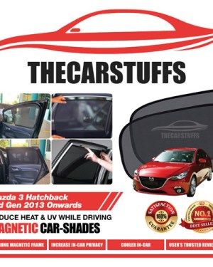 Mazda 3 Car Sunshade for Hatchback 3rd Gen 2013 Onwards