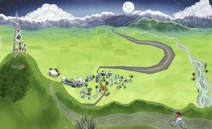Cartoon o' the canterbury plains