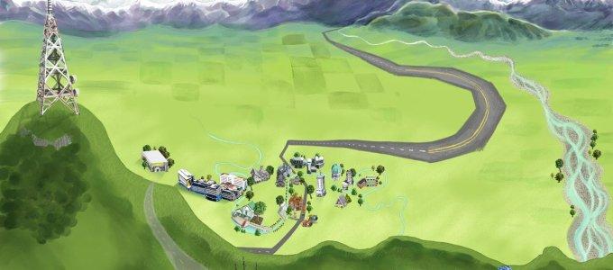 canterbury plains artwork- the cartoonist