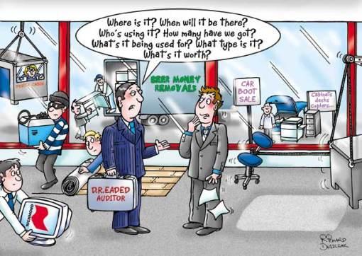 The Dreaded Auditor – cartoon