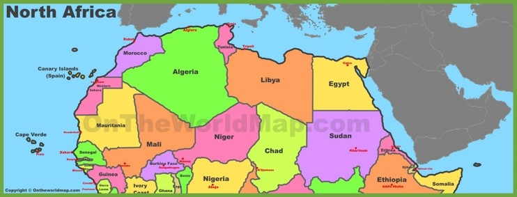 BLOG MAP NORTH AFRICA
