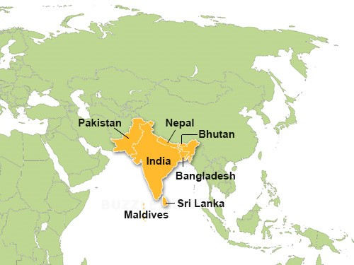 BLOG MAP SOUTH ASIA