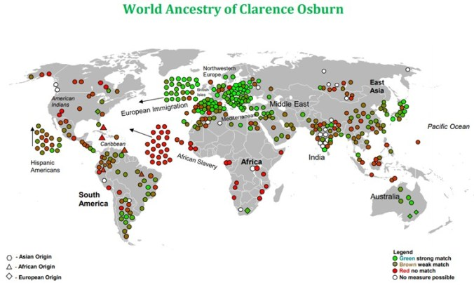 CLARENCE OSBURN WORLD MAP