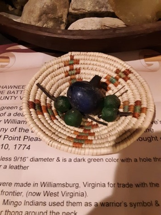 JIM LEE SILVERHEELS TRADE BEADS FROM BATTLE OF POINT PLEASANT