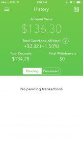 Acorns Investment Update