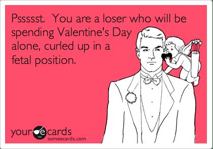 loser valentine card