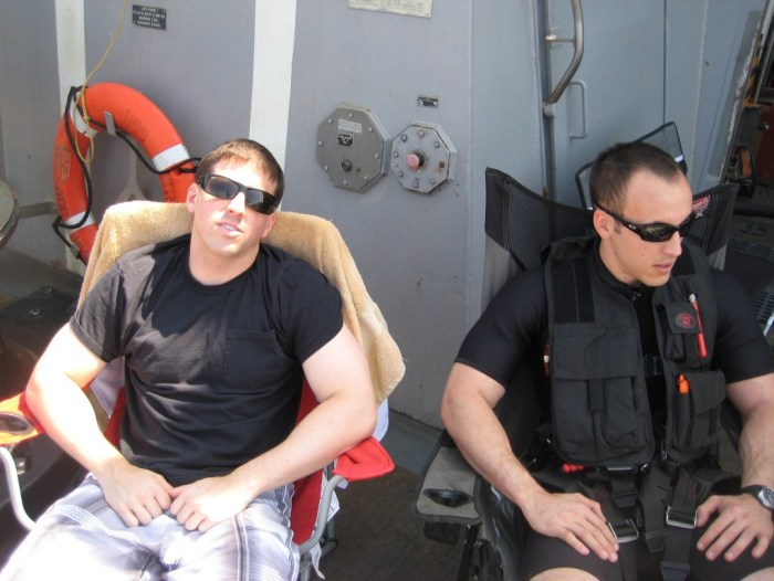 Jumping overboard for Swim Call off the Coast of Yemen 14