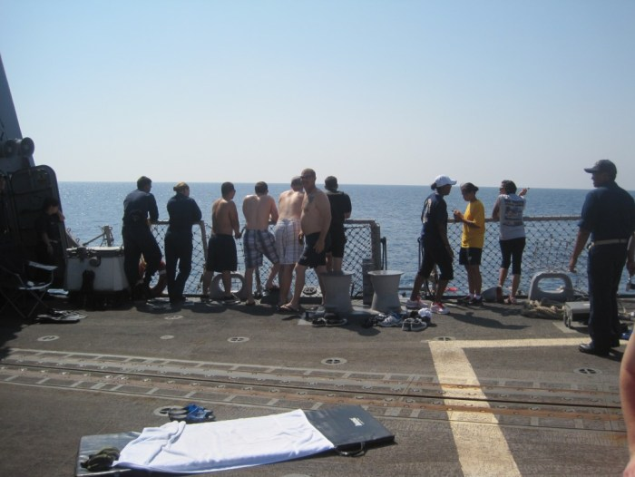Jumping overboard for Swim Call off the Coast of Yemen 2