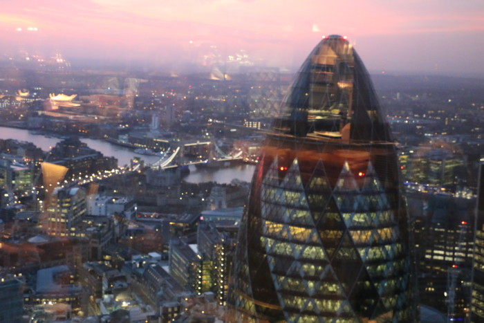 Sunrise View Duck and Waffle, London