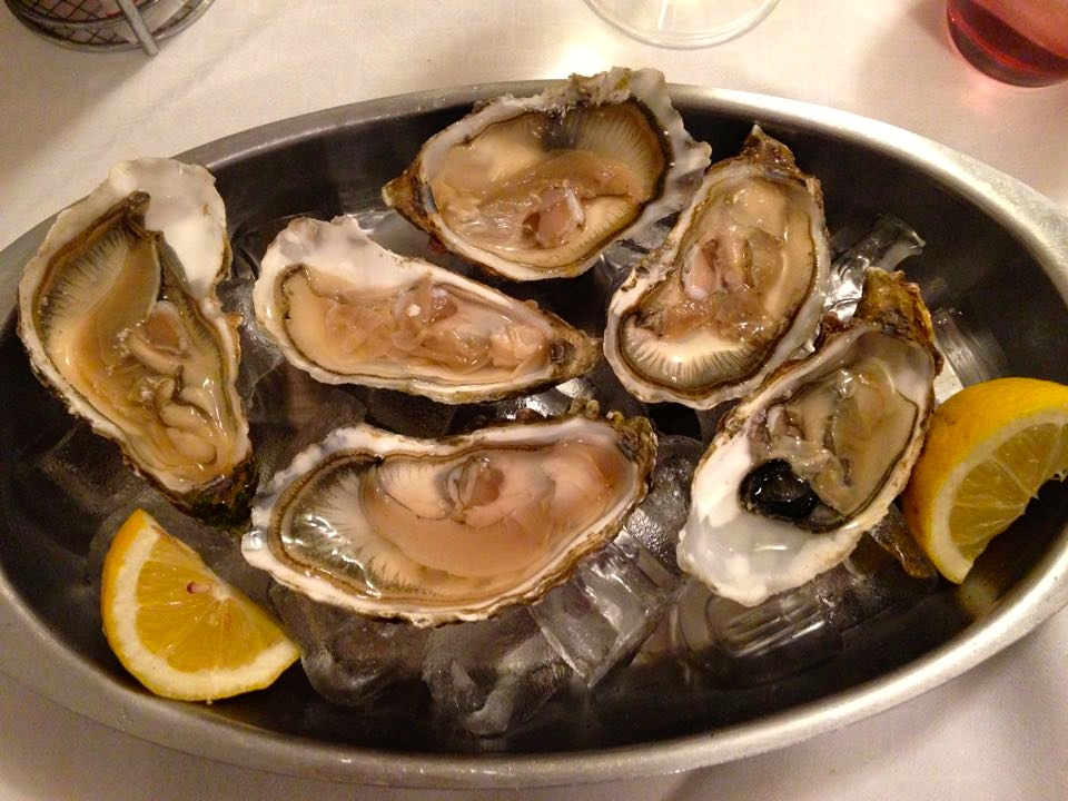 Oysters in Venice, Italy