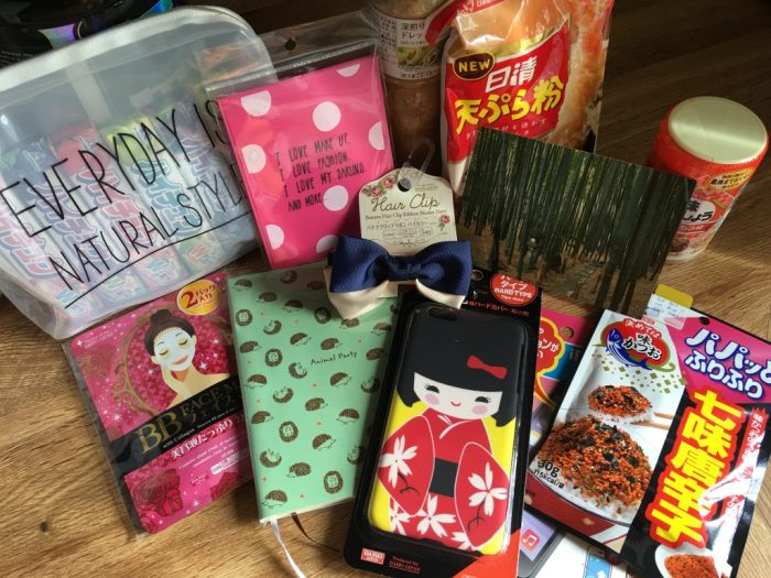 Japanese care package from Linnie