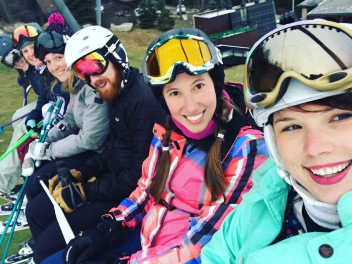 Skiing at Seven Springs with barely any snow