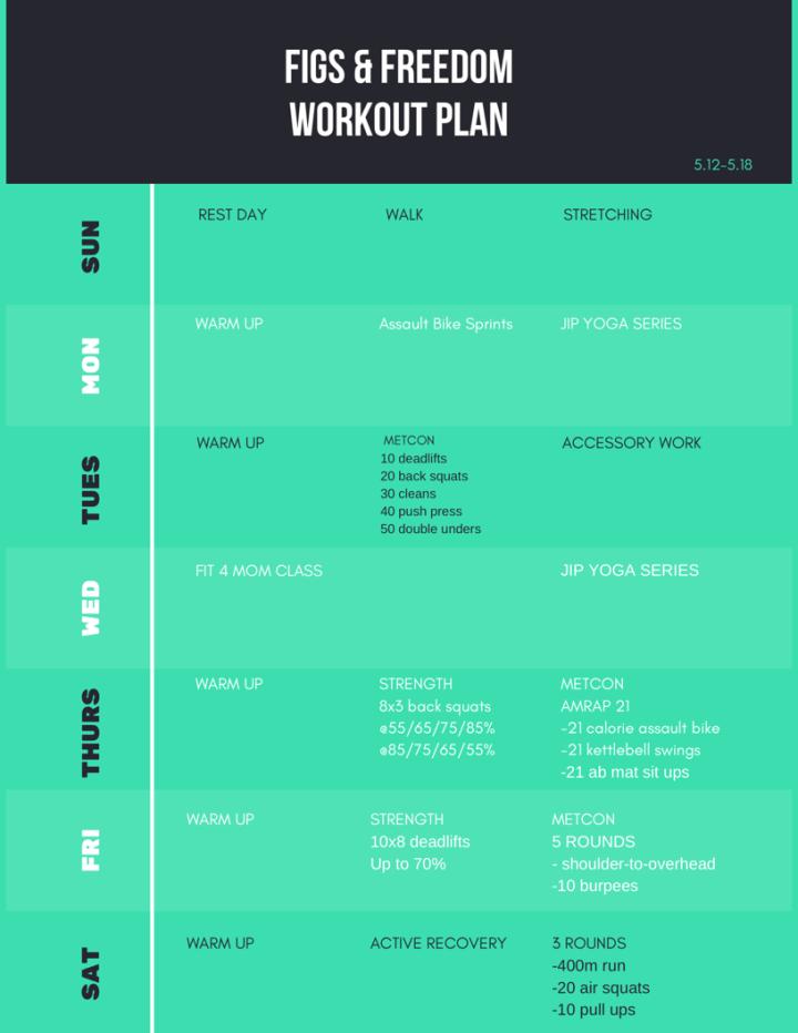 Garage CrossFit Workout Plan 5.12-5.18