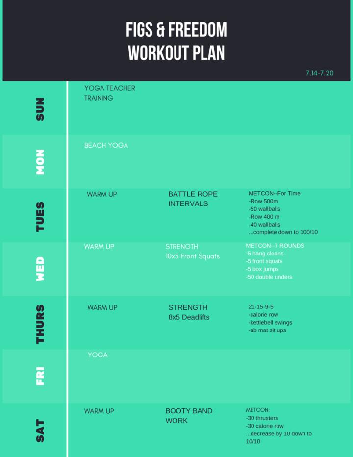 Garage CrossFit Workout Plan 7.14-7.20