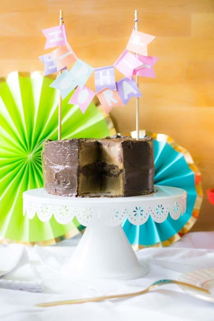 Lemon Cake With Dark Chocolate Buttercream Paleo Grain Free
