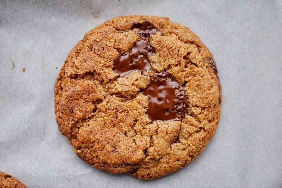 one low carb chocolate chip cookie
