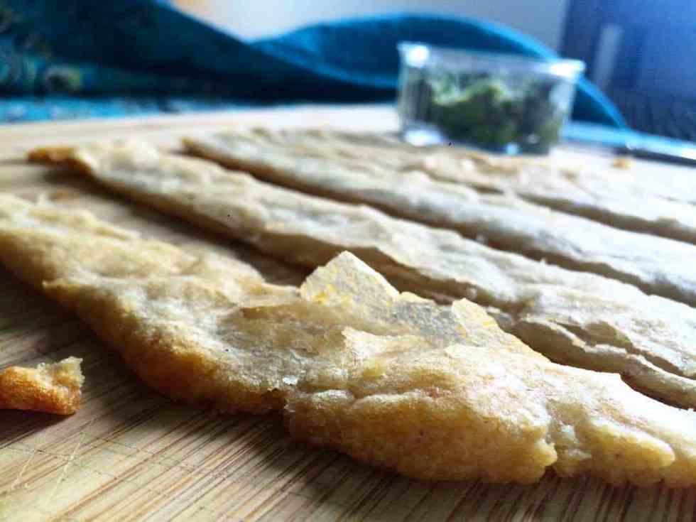 yuca flatbread on table