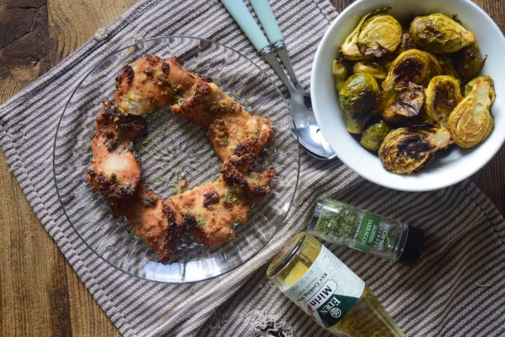 Crispy Chicken and Brussel Sprouts (Paleo, Whole30)