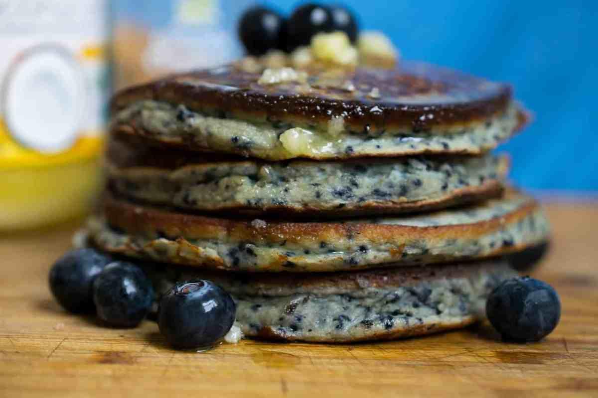 Dairy Free Blueberry Pancakes (Keto, Paleo, Gluten Free)