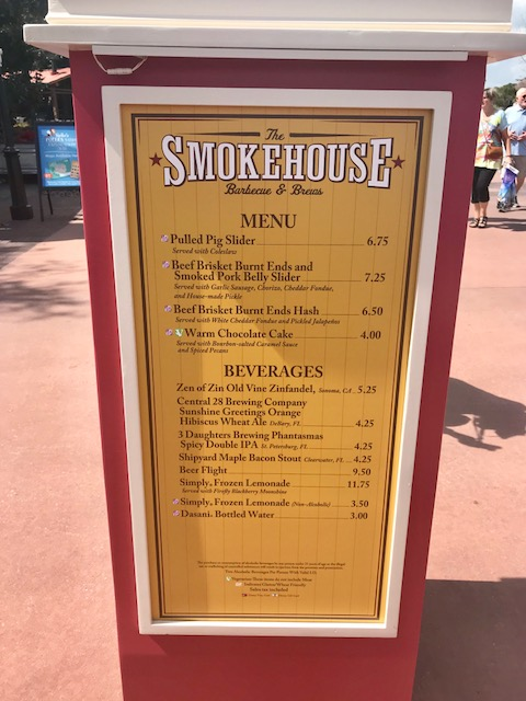 Epcot International Flower and Garden Festival Smokehouse