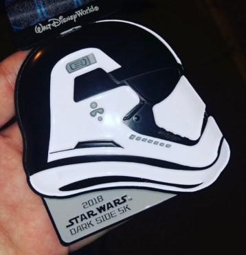 ark Side Race Weekend runDisney First Order Challenge Medal Race Bling Storm Trooper