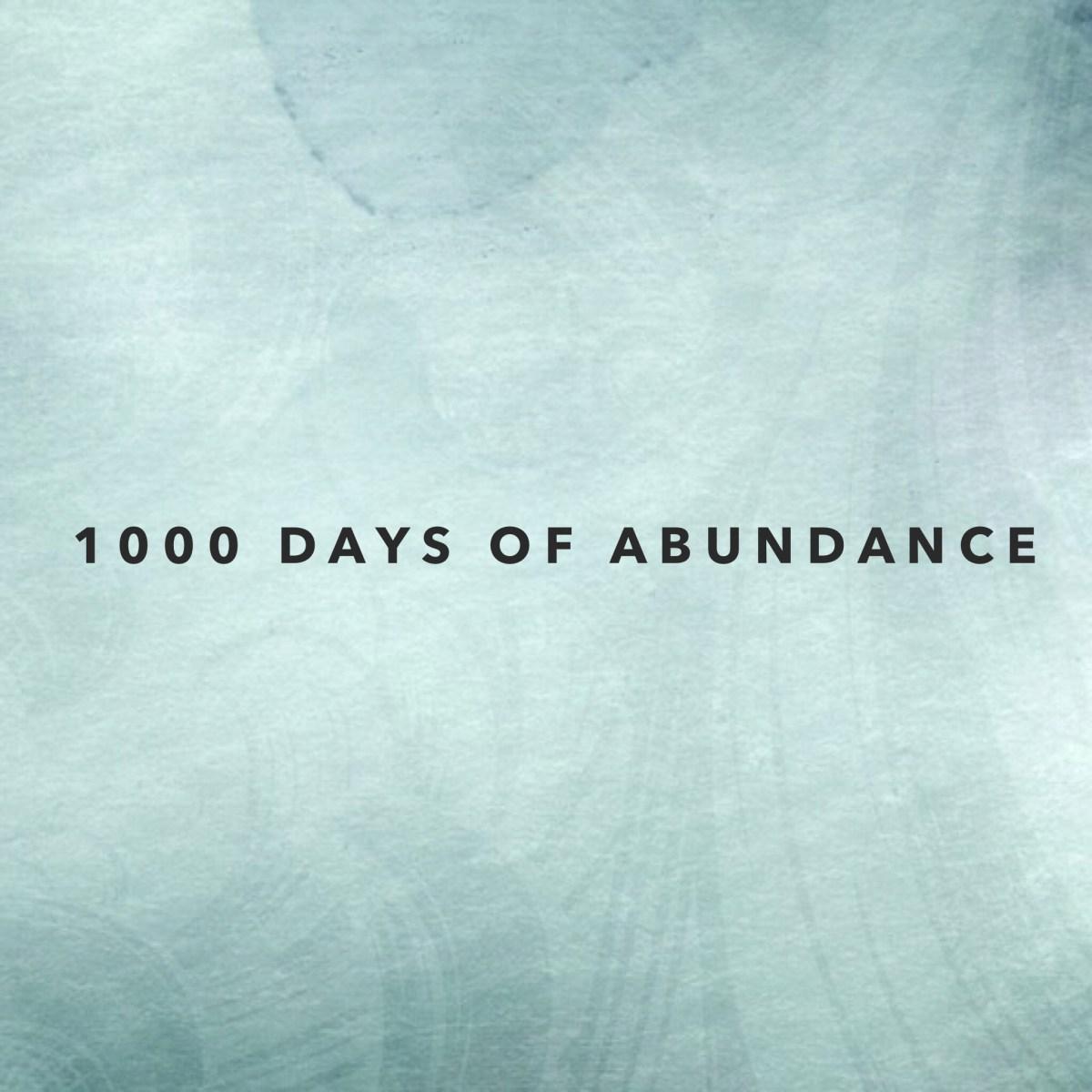 1000 days of Abundance