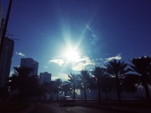 Driving down from Deira