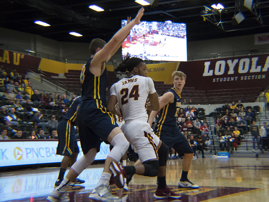Montel James, Loyola vs. Toledo