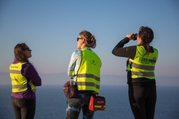On the look out for boats, the arrivals are endless, day and night. the rescue is a patchwork of well meaning agency's with varied levels of experience and scope that can lead to friction.