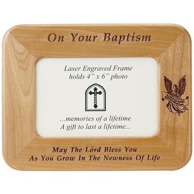 wooden baptism frame