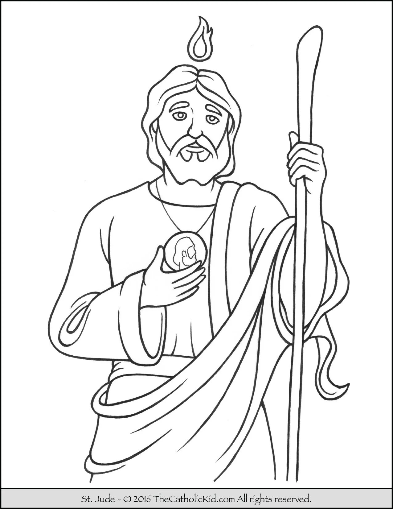 Catholic Saints Coloring Pages : catholic, saints, coloring, pages, Saint, Coloring, Catholic