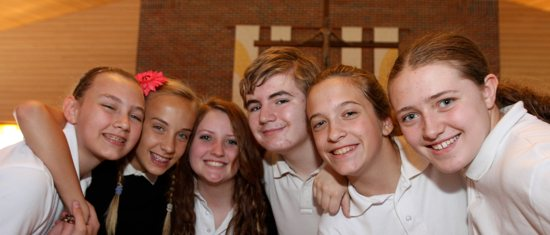 Seventh-graders from St. John the Baptist