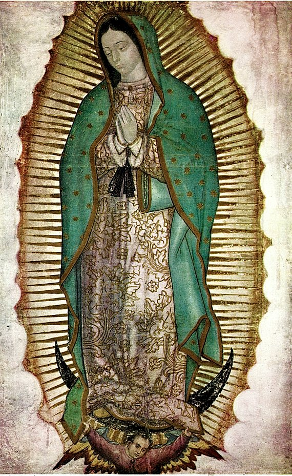 Mexican Ethnic Colorful Bright Thin Scarf Paliacate Lady of Guadalupe Virgen de Guadalupe Virgin Mary