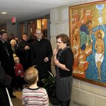Church's memorial icon offers blend of East and West