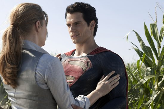 "Amy Adams and Henry Cavill star in a scene from the movie ""Man of Steel."" CNS photo/Warner Bros."