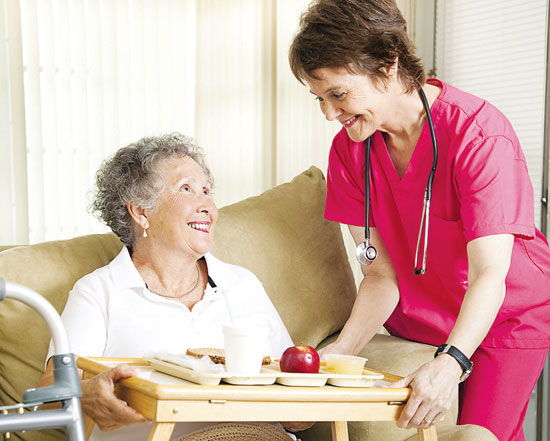 Nursing homes provide high quality medical care and nurture mind, body and spirit by assuring that residents get social stimulation, exercise and proper nutrition. Bigstock photo