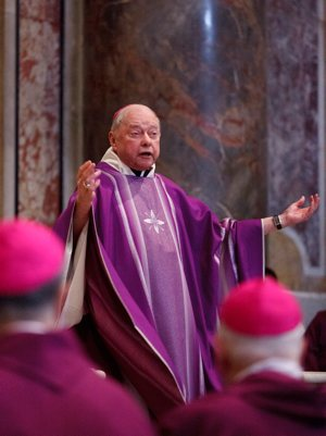 Bishop John F. Kinney of St. Cloud, Minn., pictured during 2012 'ad limina' visits at Vatican CNS photo/Paul Haring