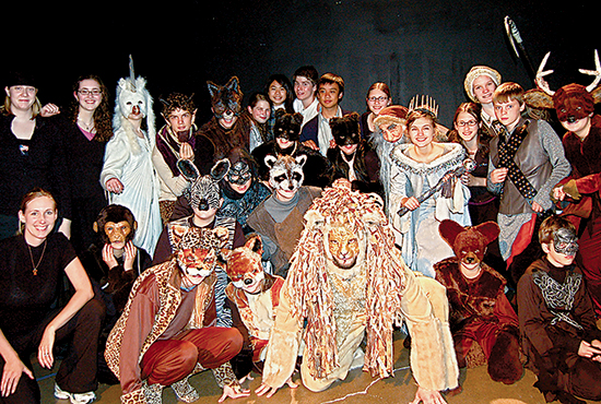 "The cast of the play, ""The Lion, the Witch and the Wardrobe"" pose for a photo in 2011. Photo courtesy of Jeremy Stanbary"
