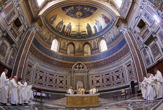 In this 2012 file photo, bishops from Washington, Oregon, Montana, Idaho and Alaska concelebrate Mass at the Basilica of St. John Lateran in Rome. CNS/Paul Haring