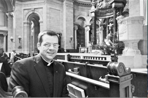 Father John Ubel, in a Catholic Spirit file photo, became rector of the Cathedral of St. Paul in 2012.