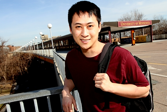 University of Minnesota law student Quang Trang looks forward to joining the Catholic Church at the Easter Vigil at  St. Lawrence-Newman April 4. He was especially drawn to the Church because of the sacrament of reconciliation, which he says will help resolve anger he has had toward his brother.
