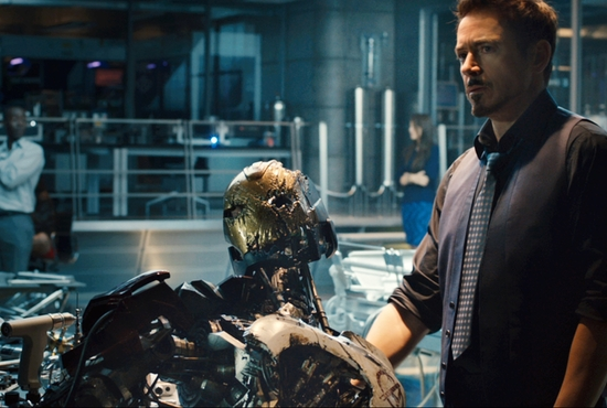 "Robert Downey Jr. stars in a scene from the movie ""Avengers: Age of Ultron."" CNS photo/Marvel"